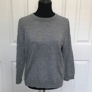 J. CREW Gray Merino Wool Sweater